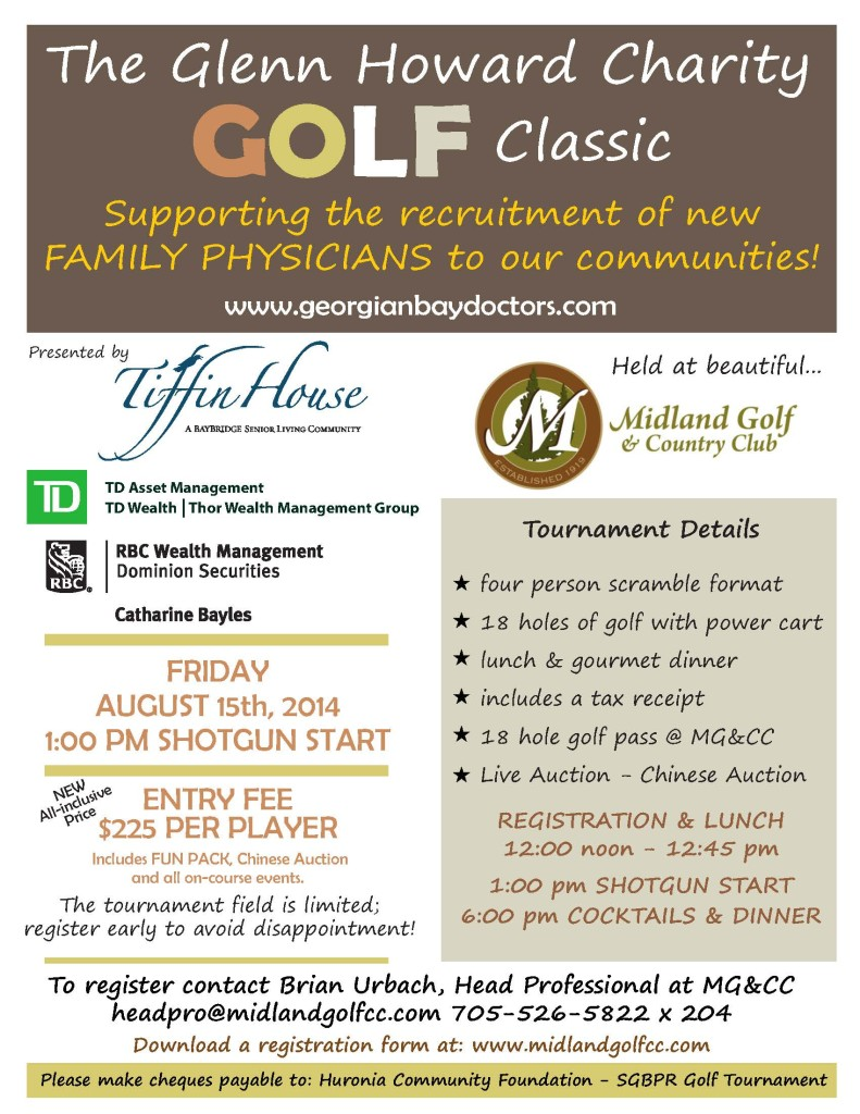 Glenn Howard Charity Golf Poster 2014 - FINAL